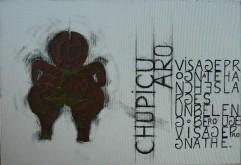 Chupicuaro 2 Peinture à l'huile et sable sur toile Environ 55 x 40 cm