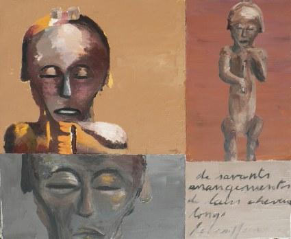 Fang 2 Peinture à l'huile sur toile Environ 50 x 40 cm VENDU