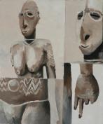 Klingenmas Peinture à l'huile sur toile 45 x 30 cm