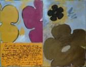 tapisserie 28 1 Peinture à l'huile et écritures sur toile
