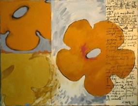 tapisserie 28 2 Peinture à l'huile et écritures sur toile