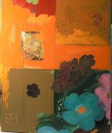 Peinture à l'huile et techniques mixtes sur toileEnviron 65 x 54 cm VENDU