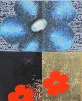 Peinture à l'huile et techniques mixtes sur toile - 27 x 22 cm - VENDU