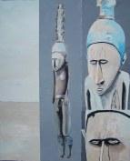 Trrou Körrow Peinture à l'huile sur toile Environ 70 x 50 cm