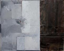 Variation D1 CHU - Peinture à l'huile et zinc sur support en boisEnviron 55 x 40 cm