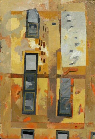 Variation E2 CHU - peinture à l'huile sur support en bois - environ 115 x 80 cm