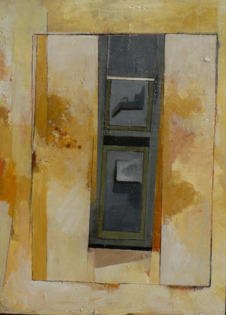 Variation F1 CHU - peinture à l'huile sur support en bois - 55 x 40 cm