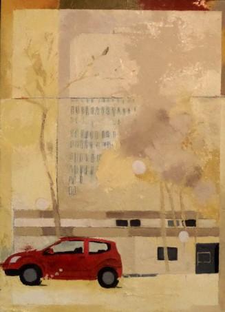 Variation F3 CHU - peinture à l'huile sur support en bois - 55 x 40 cm