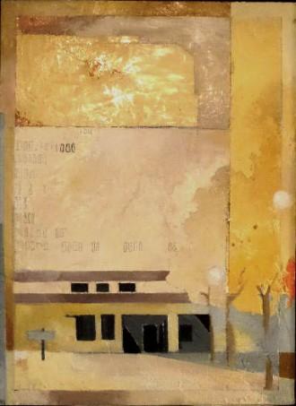 Variation F4 CHU - peinture à l'huile sur support en bois - 55 x 40 cm