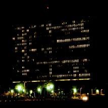 Variation G1 2142 - photographie en couleurs prise de nuit - 40 x 40 cm