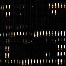 Variation H6 2147 - photographie en couleurs prise de nuit - 20 x 20 cm