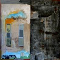 Variation J3 CHU - Peinture à l'huile et zinc sur bois - 70 x 70 cm