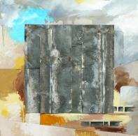 Variation J2 CHU - Peinture à l'huile et zinc sur bois - 70 x 70 cm
