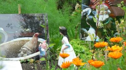 Installation photographique accompagnée d'objets en 3D: dialogue entre les deux espaces.