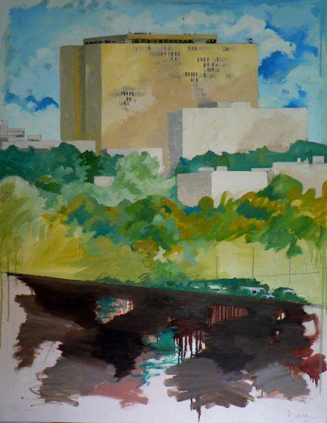 Variation i2 CHU - peinture à l'huile sur toile115 x 90 cm